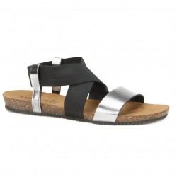 Sandały Venezia  665-8550 AC-NV20 czarny+srebrny