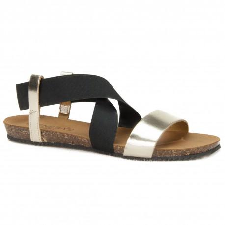 Sandały Venezia  665-8550 PLA W20 czarny+złoty