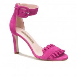 Czółenka Bravo Moda 1704 Pink zamsz